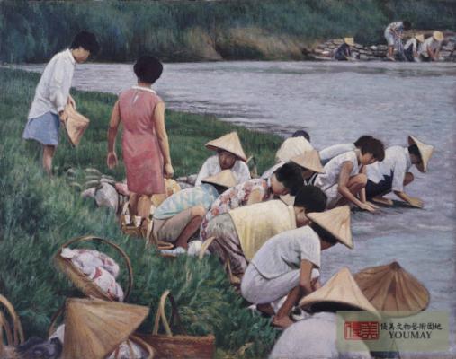 李梅樹 河邊清晨