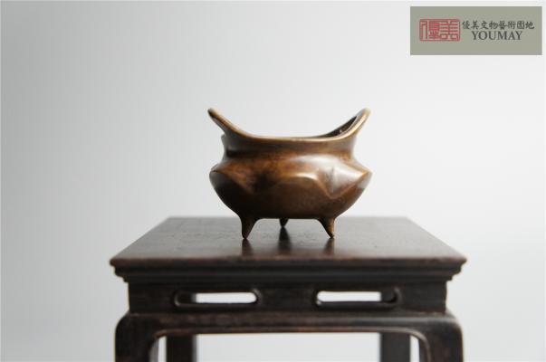 銅製小香爐